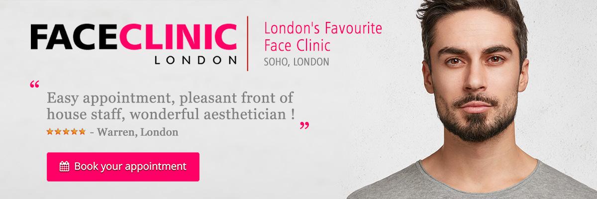 Male Beauty Treatments - Face Clinic London, Soho