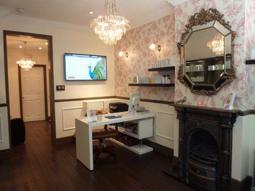 Reception of Face Clinic London, Soho Botox and Dermal Fillers Clinic